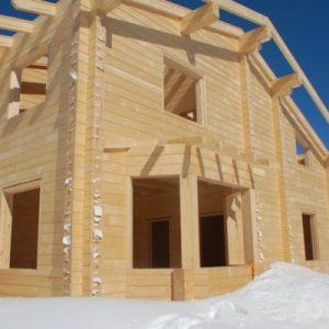 Строительство домов из дерева зимой