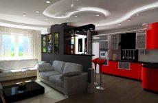Как зонировать пространство в квартире студии