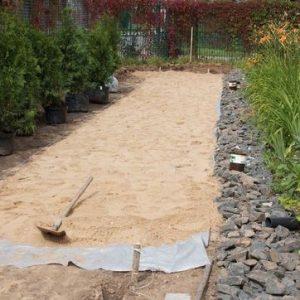 Геотекстиль для строительства садовых дорожек