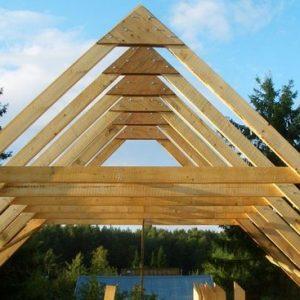 Как просчитать пиломатериал для строительства крыши