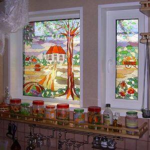 Превращаем обычное пластиковое окно в декоративное