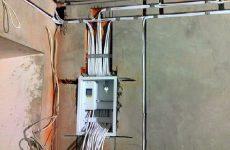 Электромонтаж проводки в коттедже