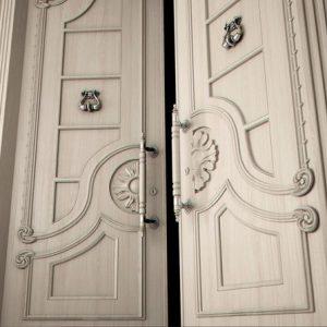 Элитные двери в интерьере: фото, варианты отделки и особенности
