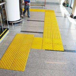 Тактильная плитка для слабовидящих людей